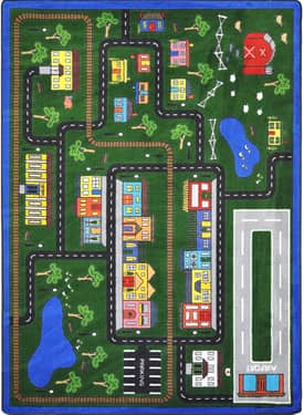 Joy Carpets Kid Essentials Tiny Town Rug