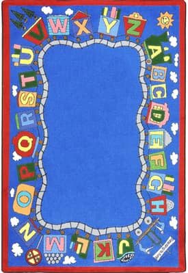 Joy Carpets Kid Essentials Reading Train Rug