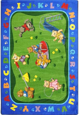 Joy Carpets Kid Essentials Teddy Bear Playground Rug