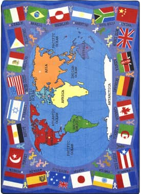 Joy Carpets Kid Essentials Flags of the World Rug