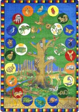 Joy Carpets Kid Essentials Tree of Life Rug