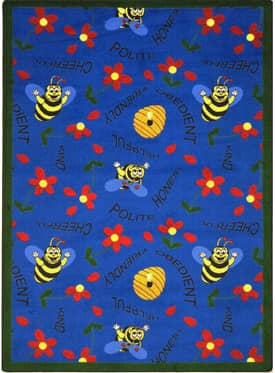 Joy Carpets Kid Essentials Bee Attitudes Rug