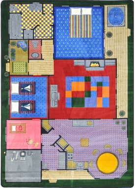 Joy Carpets Kid Essentials Creative Play House Rug