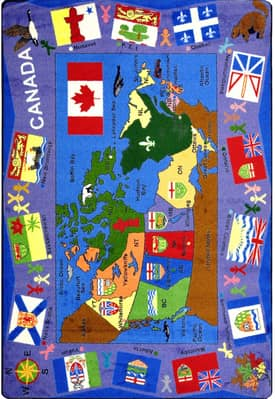 Joy Carpets Kid Essentials Flags of Canada Rug