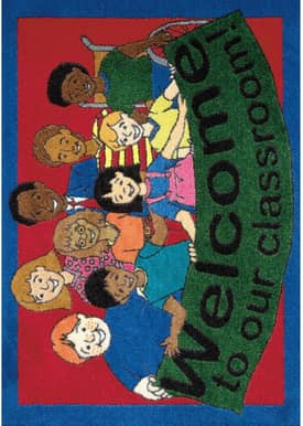 Joy Carpets Kid Essentials Welcome to Our Classroom Mat Rug