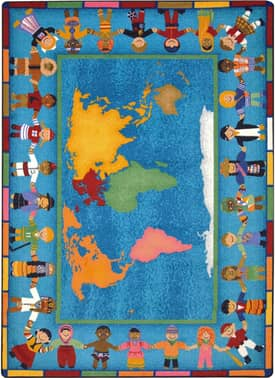 Joy Carpets Educational Hands Around the World Rug