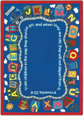 Joy Carpets Kid Essentials Bible Train Rug