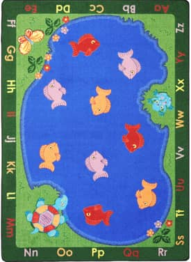 Joy Carpets Educational Fishin' Fun Rug