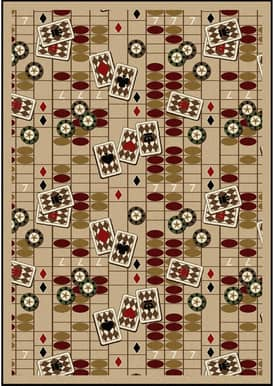 Joy Carpets Gaming and Entertainment Feeling Lucky Rug