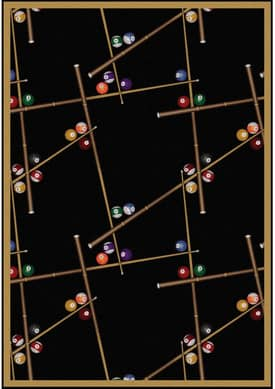 Joy Carpets Gaming and Entertainment Snookered Rug