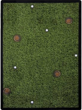 Joy Carpets Sports Back Nine Rug