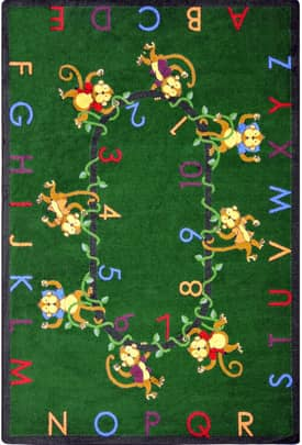 Joy Carpets Educational Monkey Business Rug