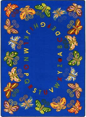 Joy Carpets Educational Butterfly Delight Rug