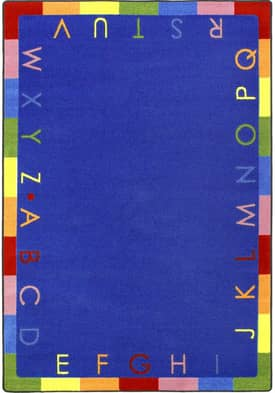 Joy Carpets Educational Rainbow Alphabet Rug