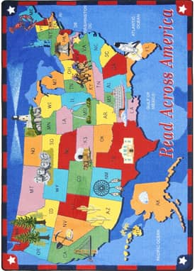Joy Carpets Educational Read Across America Rug