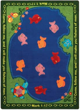 Joy Carpets Educational - Faith Based Fishers of Men Rug