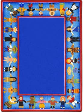 Joy Carpets Educational Children of Many Cultures Rug