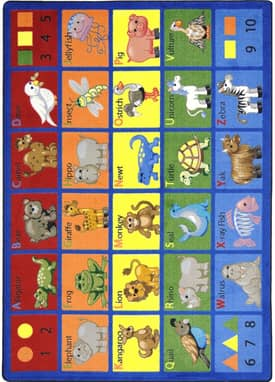 Joy Carpets Educational Animal Phonics Rug