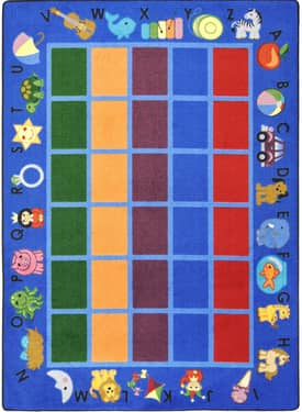 Joy Carpets Educational Alphabet Phonics Rug