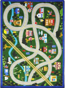 Joy Carpets Educational My Community Helpers Rug