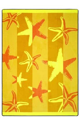 Joy Carpets Summer Solstice Outdoor Starfish Rug