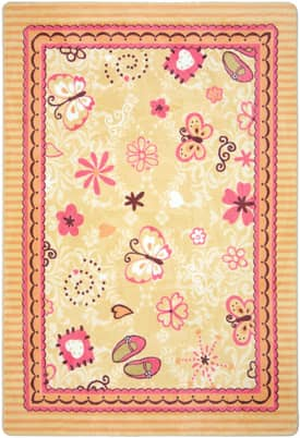 Joy Carpets Just For Kids Hearts & Flowers Rug