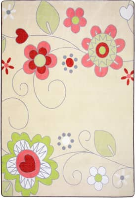 Joy Carpets Just For Kids Pretty Posies Rug