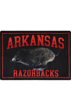 Joy Carpets Collegiate Mascot Arkansas Rug