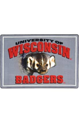 Joy Carpets Collegiate Mascot Wisconsin Rug