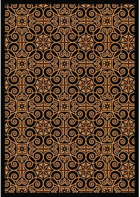Joy Carpets Any Day Matinee Antique Scroll Rug