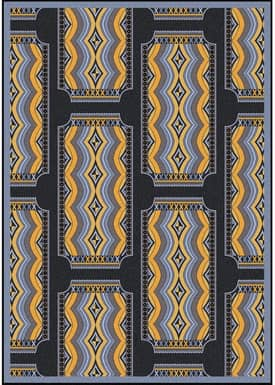 Joy Carpets Any Day Matinee Deco Ticket Rug
