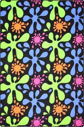 Joy Carpets Fluorescent Splat Rug