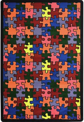 Joy Carpets Just For Kids Puzzled Rug