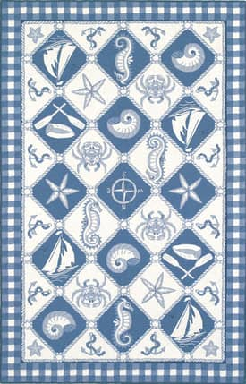 Kas Oriental Colonial Nautical Panel Rug