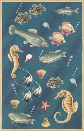 Kas Oriental Colonial Deep Sea Dives Rug