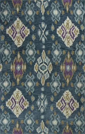 Kas Oriental Anise Allover Ikat Rug