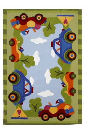 Kas Oriental Safari Ride In The Park Rug