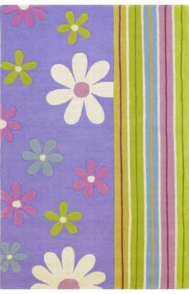 Kas Oriental Kidding Around Groovy Flowers Rug