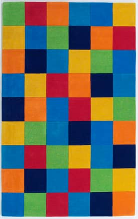 Kas Oriental Kidding Around Boy's Color Blocks Rug