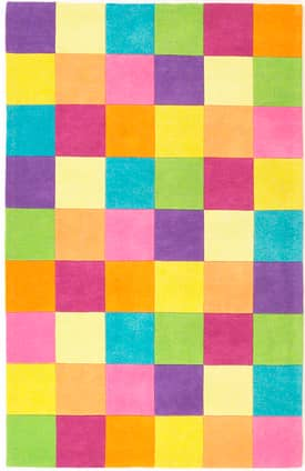 Kas Oriental Kidding Around Girls Color Blocks Rug