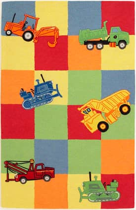 Kas Oriental Kidding Around Trucks Galore Rug