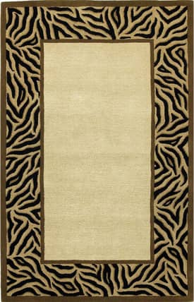 Kas Oriental Sahara Tiger Stripes Border Rug