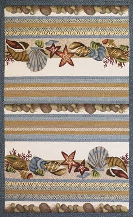 Kas Oriental Fairfax Outdoor Seashells Rug