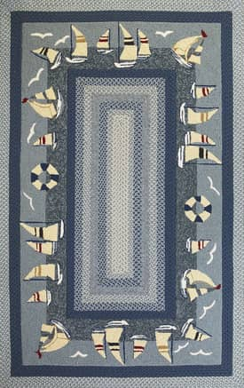 Kas Oriental Fairfax Outdoor Sailboats Rug