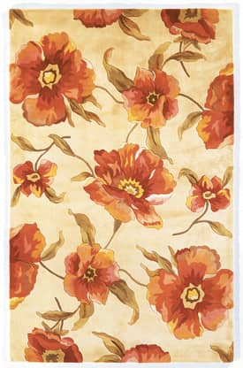 Kas Oriental Catalina Poppies Rug