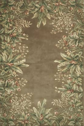 Kas Oriental Emerald Tropical Border Rug