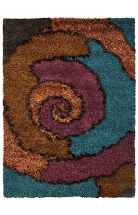 Kas Oriental Optic Spiral Rug