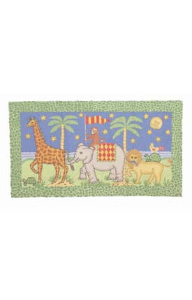Peking Handicraft, Inc. Kelly Rightsell Jungle Parade Rug