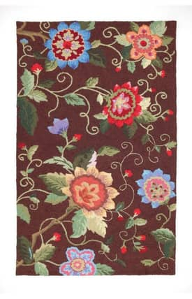 Peking Handicraft, Inc. Country Exotic Flowers Rug