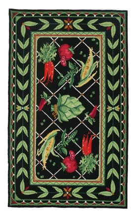 Peking Handicraft, Inc. Country Garden Veggies Rug